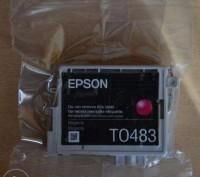 Струйный картридж Epson T0483 (C13T04834010). Киев. фото 1