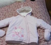 Куртка теплая на девочку с рукавичками на 1.5-2 года. Запорожье. фото 1