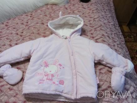 Продам новую куртку на сентапоне  на девочку 1.5-2 года. Запорожье, Запорожская область. фото 1