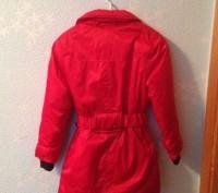 Теплая зимняя куртка красного цвета, с воротником который отстегивается.. Запорожье, Запорожская область. фото 3