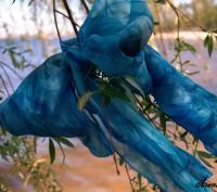 Шарф ручной работы батик из натурального шелка