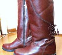 Продаю новые кожаные сапоги, размер 40. Біла Церква. фото 1
