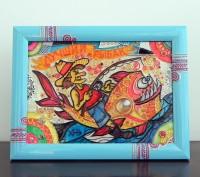 Витражная картина «Лучший рыбак». Чернигов. фото 1