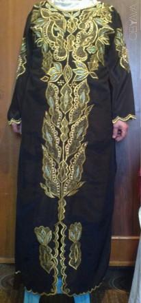 Хиджаб (платье), обшитое натуральным речным жемчугом и бисером. Мелитополь. фото 1