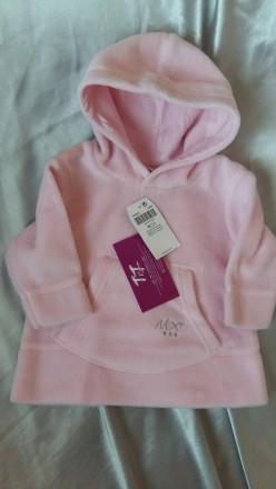 Регланчик для маленькой девочки нежно-розового цвета с капюшоном, пушистый, подк. Киев, Киевская область. фото 2