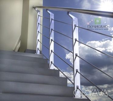 Изготовление с нержавеющей стали изделий любой сложности. Лестницы, перила, огр. Киев, Киевская область. фото 1