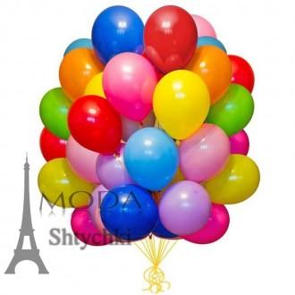 Набор воздушных цветных шариков. Хмельницький. фото 1