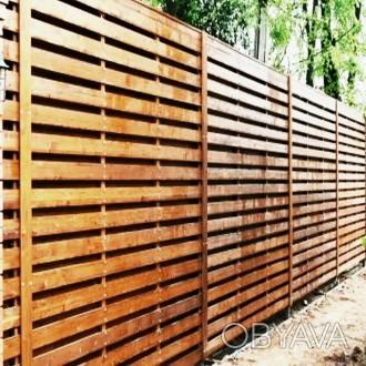 Цена-1 450 грн за 1 кв.м Деревянные заборы и входные ворота отличаются надежнос. Одесса, Одесская область. фото 1