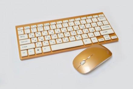 Беспроводная клавиатура и мышь 902 (под Apple). Днепр. фото 1
