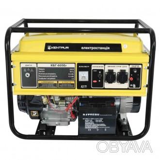 Генератор гибридный газ/бензин Кентавр КБГ605Эг (6,5 кВт)