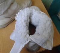 Продам белые детские сапожки на меху. Размер 30. По стельке - 19 см.. Днепр, Днепропетровская область. фото 4