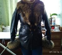 Кожаная курточка с енотом Торг!. Козелец. фото 1
