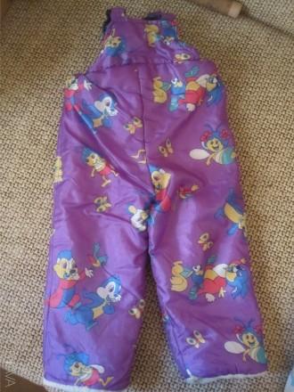 Комбинезон-штаны теплые В хорошем состоянии, целые. Длина от пояса до низу 56 см. Киев, Киевская область. фото 1