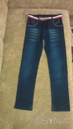 Модные джинсы узкачи для мальчика, состояние - ОТЛИЧНОЕ!!! Производство Турция.. Чернигов, Черниговская область. фото 1