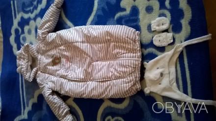 Продам  детский  зимний комбез конверт mothercare 6-9 месяцев шапочка и царапки . Киев, Киевская область. фото 1