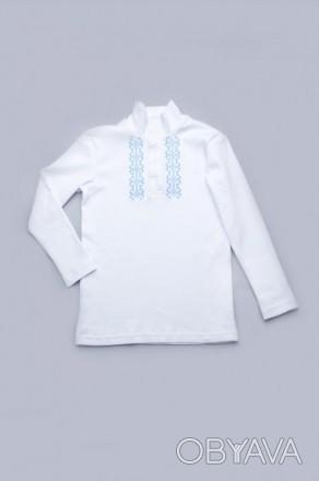 Красивый и нарядный трикотажный гольф - вышиванка белого цвета для мальчиков 4 -. Дніпро, Дніпропетровська область. фото 1