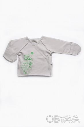 Распашонка детская с запахом на боковой застёжке – кнопочке.  Распашонка  для . Днепр, Днепропетровская область. фото 1