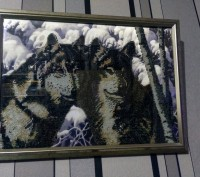 Картина вышитая бисером. Запорожье. фото 1