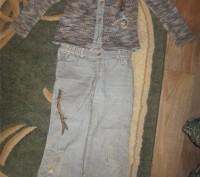 Костюм для девочки длина рукава(вязанные)-46 см,длина кофты-50 см,длина брюк-79 . Конотоп, Сумская область. фото 2