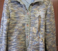 Костюм для девочки длина рукава(вязанные)-46 см,длина кофты-50 см,длина брюк-79 . Конотоп, Сумская область. фото 3
