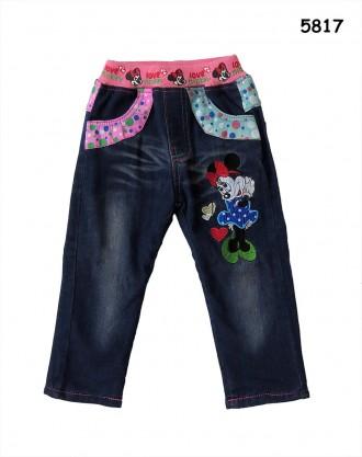 Теплые джинсы Minnie Mouse для девочки. Ніжин. фото 1