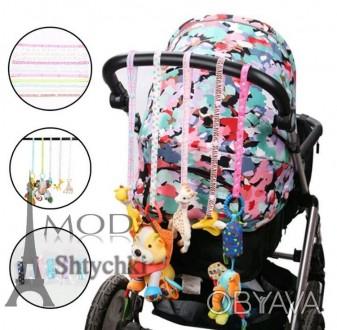 Ремешок держатель для игрушек или грызунов, в детскую коляску-кроватку, на 4-х з. Хмельницкий, Хмельницкая область. фото 1