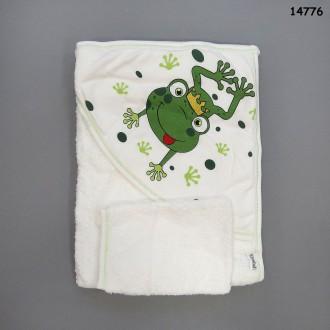 Махровое полотенце-уголок
