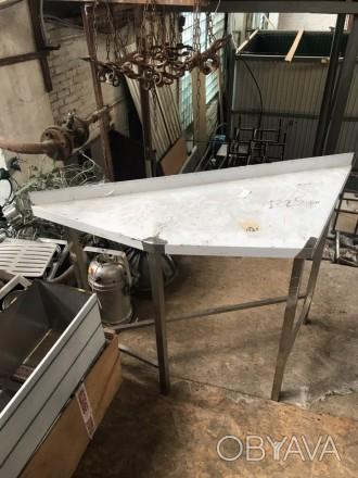 Продам новый стол трапецию из нержавеющей стали