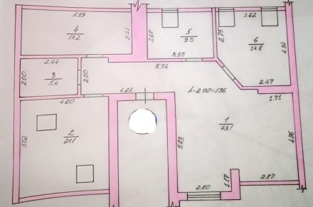 Площадь: 107/49/30  кв.м.;  Количество комнат: 3 ; Этажность: 4/4;  Документы. Ирпень, Киевская область. фото 4