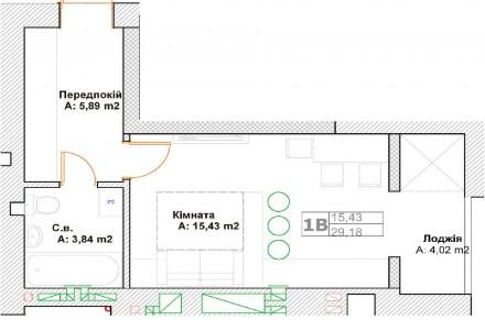 Комната просторная правильной формы, из которой есть выход на застекленную лоджи. Ирпень, Киевская область. фото 9