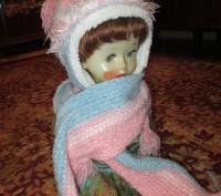 зимняя шапка для девочки 6-9 лет,теплая,со вставкой,длина шарфа-140см,рукавички . Сумы, Сумская область. фото 4