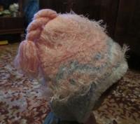 зимняя шапка для девочки 6-9 лет,теплая,со вставкой,длина шарфа-140см,рукавички . Сумы, Сумская область. фото 3