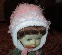 зимняя шапка для девочки 6-9 лет,теплая,со вставкой,длина шарфа-140см,рукавички . Сумы, Сумская область. фото 2