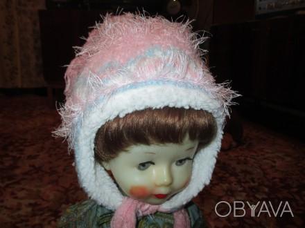 зимняя шапка для девочки 6-9 лет,теплая,со вставкой,длина шарфа-140см,рукавички . Сумы, Сумская область. фото 1