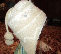 зимняя шапка на девочку 5-7 лет в хорошем состоянии,с подкладкой,шарф длина110см. Сумы, Сумская область. фото 4