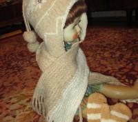 зимняя шапка на девочку 5-7 лет в хорошем состоянии,с подкладкой,шарф длина110см. Сумы, Сумская область. фото 5