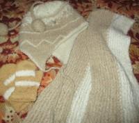зимняя шапка на девочку 5-7 лет в хорошем состоянии,с подкладкой,шарф длина110см. Сумы, Сумская область. фото 3