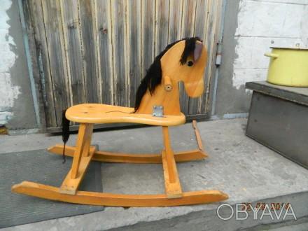 Продаётся детская конячка-качалка. В отличном состоянии, использовалась очень м. Каменское, Днепропетровская область. фото 1