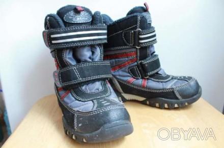 Теплые зимние термо ботинки для мальчика. Длина по стельке 19,6 см. Проиводство . Запоріжжя, Запорізька область. фото 1