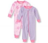 Пижама -слип для девочки CHILDRENS PLACE , 5Т 100% хлопок,принт котика  ЗАМЕР. Каменское, Днепропетровская область. фото 2