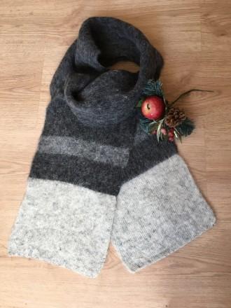Шерстяной исландский шарф. Днепр. фото 1
