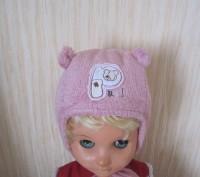 Розовая теплая шапочка для девочки.  Мягкая махра сверху, внутри х/б подкладка,. Киев, Киевская область. фото 4