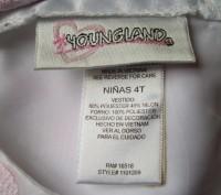 Продам нарядное платье для девочки 4 года, 115-120 см Youngland. Оригинал. Спер. Черкассы, Черкасская область. фото 4