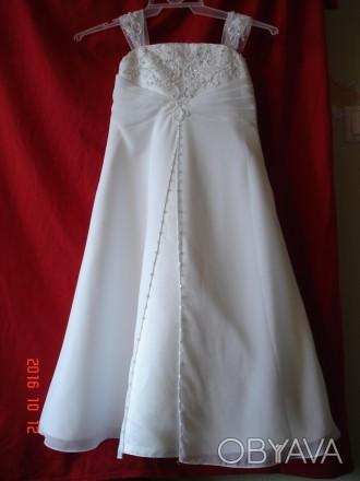 Продам  нарядное платье для девочки на 4 года от David´s Bridal.   Оригинал из . Черкассы, Черкасская область. фото 1