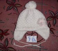 шапочка для девочки 52 см по объему головочки.. б/у.  состояние хорошее. перешлю. Сумы, Сумская область. фото 3
