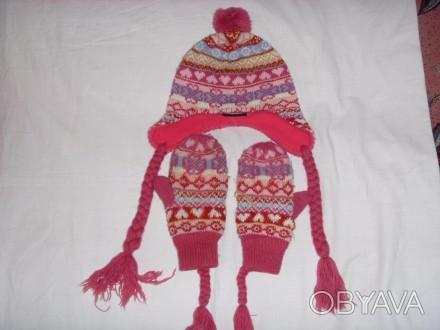 шапочка для девочки 52 см по объему головочки.. б/у.  состояние хорошее. перешлю. Сумы, Сумская область. фото 1