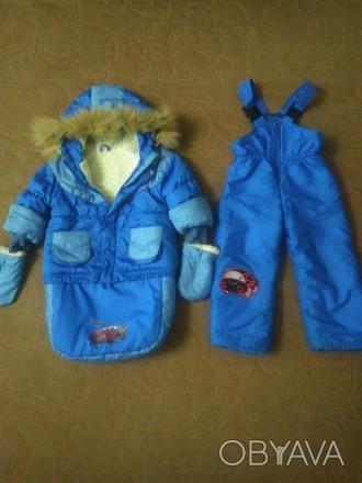 Зимний комбинезон для мальчика, от 0 до 3 лет, в хорошем состоянии, курточка на . Павлоград, Днепропетровская область. фото 1
