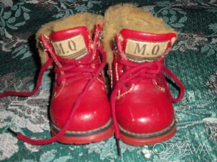 Зимние ботиночки в хорошем состоянии. По стельке 12 см. Каменское, Днепропетровская область. фото 1