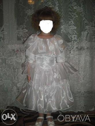 Красивое платье на праздник. В идеальном состоянии на рост 110 см. Замеры по про. Каменское, Днепропетровская область. фото 1