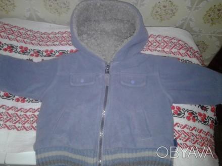 куртка сине-пепельного цвета, очень теплая, внутри мех. Черкассы, Черкасская область. фото 1